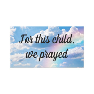 For This Child We Prayed Nursery Bedroom Wall Art
