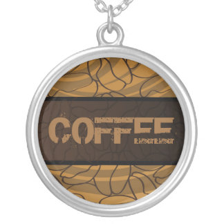 For those who love  COFFEE! Round Pendant Necklace