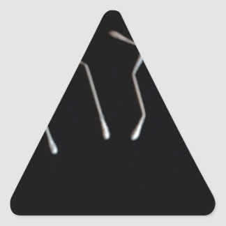"""""""For Those With Ears, Let Them Hear"""" Triangle Sticker"""