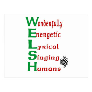 For those with Welsh pride! Postcard