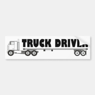 For truck driver: Freight lorry with long trailer Bumper Sticker