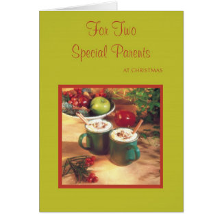 For Two Special Parents at Christmas Greeting Card