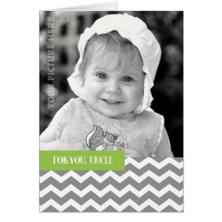For Uncle on Father's Day Custom Photo Card