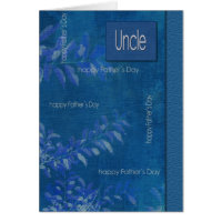 For Uncle on Father's Day Customizable Cards