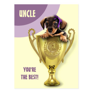 For Uncle on Father's Day. Fun Postcards