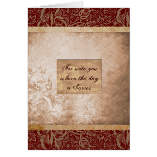 For Unto You Is Born This Day Greeting Cards