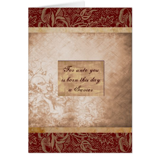 For Unto You Is Born This Day Card