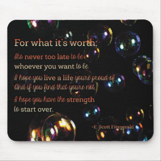 For what it's Worth Mouse Pad