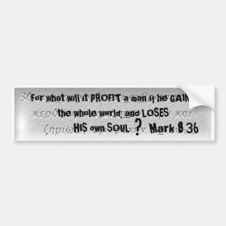 """""""For what will it PROFIT ... - Customized Bumper Sticker"""