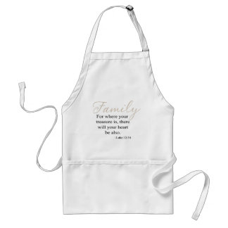 For Where Your Treasure Is Family Quote Aprons