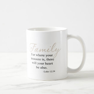 For Where Your Treasure Is Family Quote Coffee Mug
