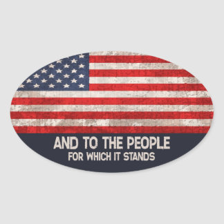 For Which It Stands Oval Sticker