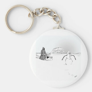 For whom the bell tolls... basic round button keychain
