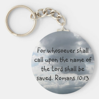 For whosoever shall call upon the name of the Lord Keychain