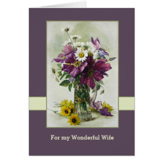 For Wife on Mother's Day Greeting Cards
