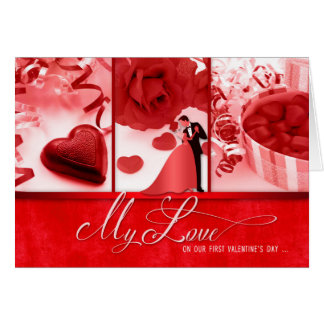 for Wife Romantic 1st Valentine's Day Card