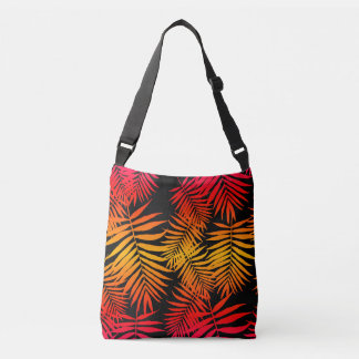 For Women Teen Girls Palm Tree Leaf Sunset Crossbody Bag