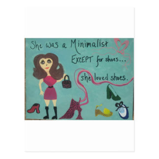 For women who love shoes postcard