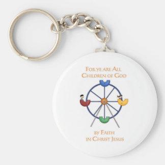 For ye are All Children of God Ferris Wheel Basic Round Button Keychain