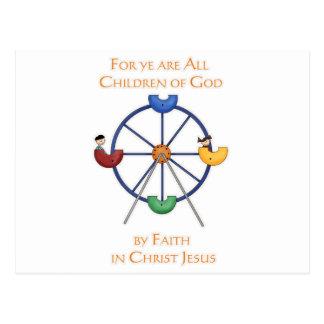 For ye are All Children of God Ferris Wheel Postcard