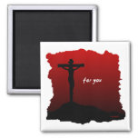 For You 2 Inch Square Magnet