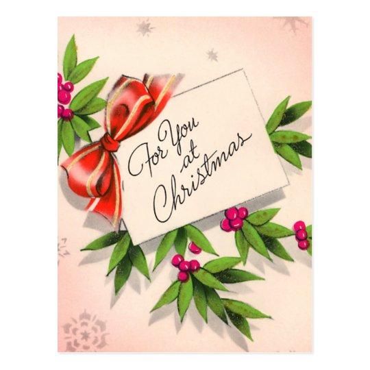 For You At Christmas Postcard
