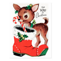 For You at Christmas Reindeer Postcard