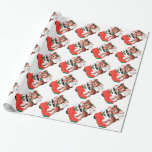 For You at Christmas Reindeer Wrapping Paper