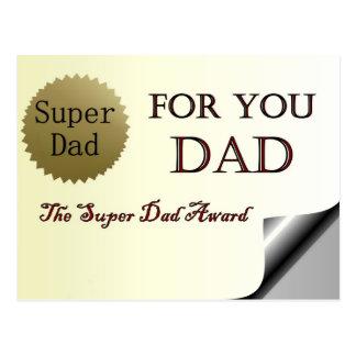 For You Dad Super Dad Award Postcard