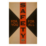For You For All Safety Vintage Poster
