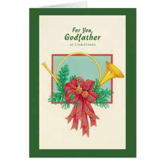 For You Godfather At Christmas Card