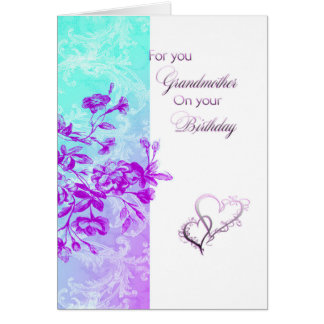 For you grandmother birthday card