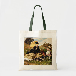 For You Mom With Love--Vintage Painting Bag