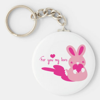 for you my love bunny keychain