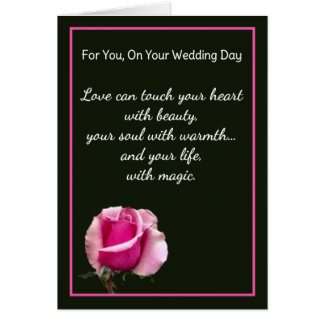 For You, On Your Wedding Day Card
