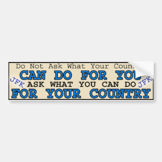 For Your Country Bumper Sticker