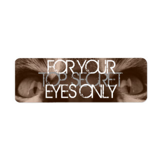 for your eyes only labels