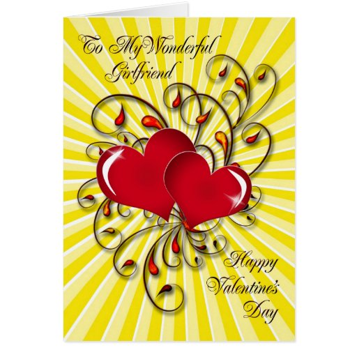 For your girlfriend, a stunning Valentine's card. Greeting Card