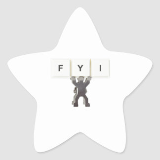 For Your Information Star Sticker
