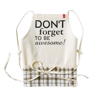 For your own funny saying or wisdom zazzle HEART apron