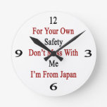 For Your Own Safety Don't Mess With Me I'm From Ja Round Wallclocks