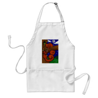 Foraging Red squirrels Adult Apron