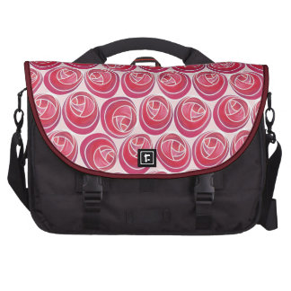 Foral Art Nouveau Roses Pattern in Pinks & Reds Computer Bag
