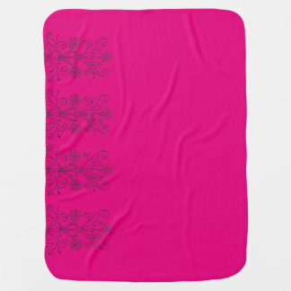 Foral Pink Mexican Receiving Blanket