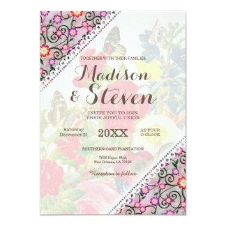 Foral Wedding Invitation