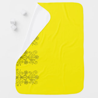 Foral Yellow Mexican Receiving Blanket