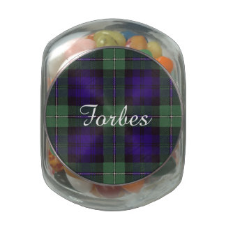 Forbes clan Plaid Scottish tartan Jelly Belly Candy Jar