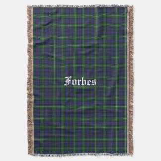 Forbes Clan Tartan Plaid Custom Throw Blanket
