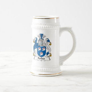 Forbes Family Crest Beer Stein