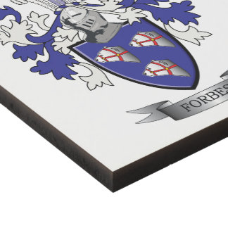 Forbes Family Crest Coat of Arms Panel Wall Art